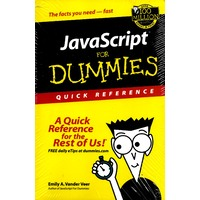 JavaScript For Dummies: A Quick Reference for the Rest of Us! - Computers Book