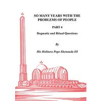 So Many Years with the Problems of People Part 4 - Religion Book Aus Stock
