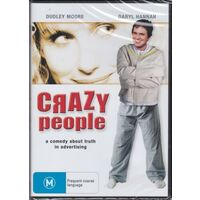 CRAZY PEOPLE - Dudley Moore, Daryl Hannah, Paul Reiser -DVD -Comedy New
