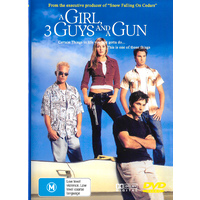 A Girl 3 Guys And A Gun -Rare DVD Aus Stock Comedy New Region ALL