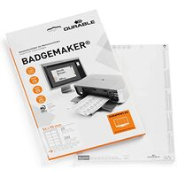 Durable BadgeMaker Name Bagde, Inserts 54 x 90, Pack of 200