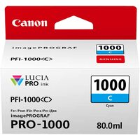 Canon PFI1000C Cyan ink cartridge for CanonProfessional Photo printer