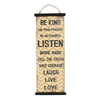 Boho Traders Canvas Affirmation Wall Hanging, Yellow and Black