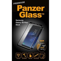 PanzerGlass Samsung GALAXY S8 Phone Screen Protection, Clear / Black