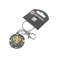 NFL Buffalo Bills New Orleans Saints Impact Keychain, Silver
