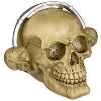 Zingz and Thingz Rockin Headphone Skull Figurine, Ivory