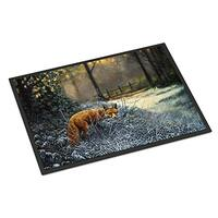 "Caroline's Treasures A Family of Foxes at Home Indoor or Outdoor Mat 18x27 BDBA0283MAT 18"" H x 27"" W Multicolor, Multicolor, 24 x 36"
