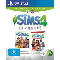 THE SIMS 4 CAT & DOG BUNDLE PS4 Playstation 4 PRE-OWNED GAME: GREAT CONDITION