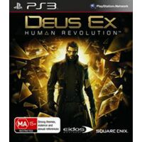 DEUS EX HUMAN REVOLUTION PS3 Playstation 3 Game - Disc Like New
